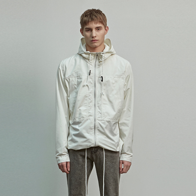 [에이글로우] HOOD WINDBREAKER JACKET_IVORY