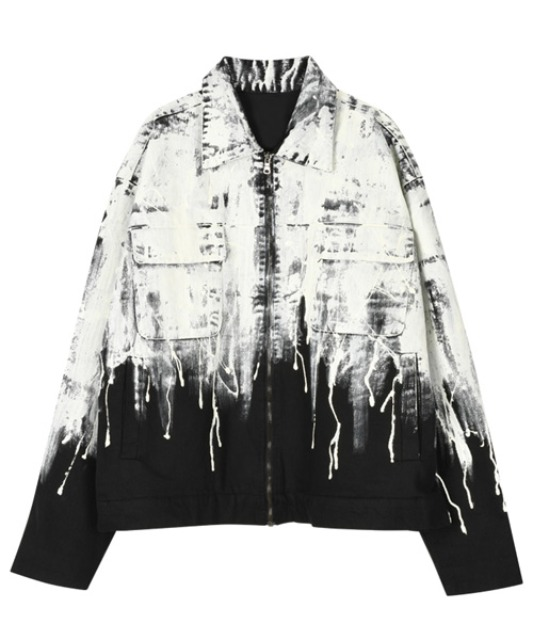 [이노반트] Flowing Paint Jacket - Black