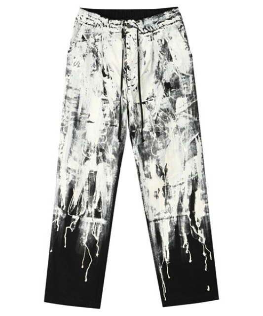[이노반트] Flowing Paint Pants - Black