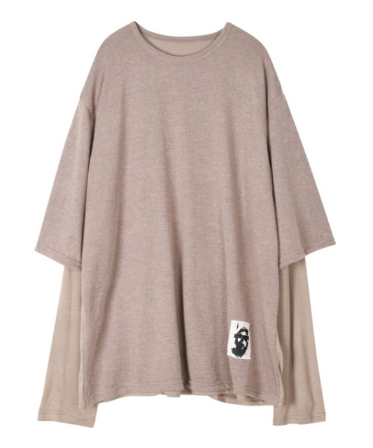 [이노반트] Layered Patch sleeve - Beige