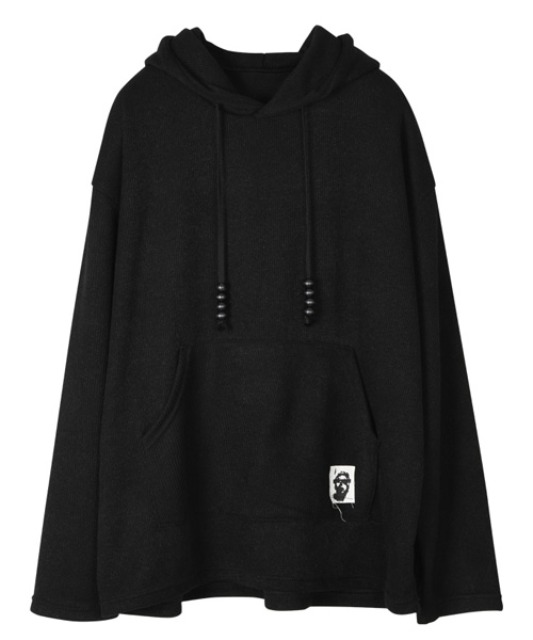 [이노반트] Patch Hood - Black