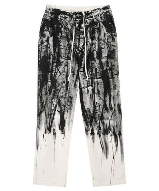 [이노반트] Flowing Paint Pants - White