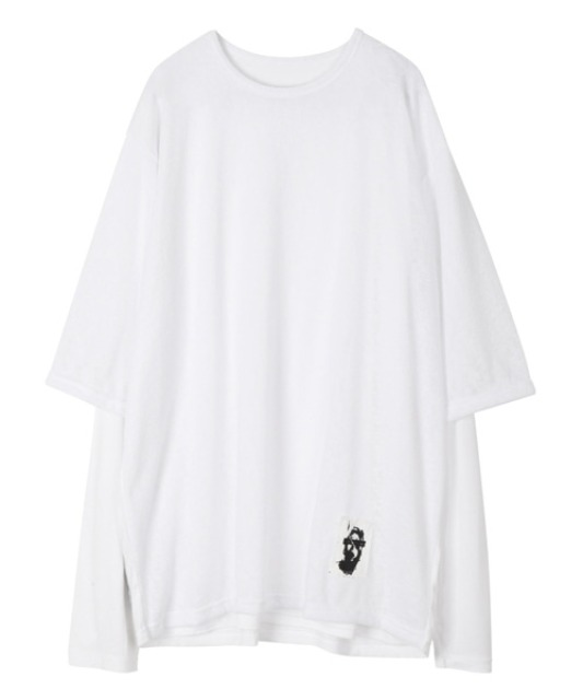 [이노반트] Layered Patch sleeve - White