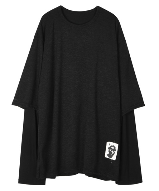 [이노반트] Layered Patch sleeve - Black