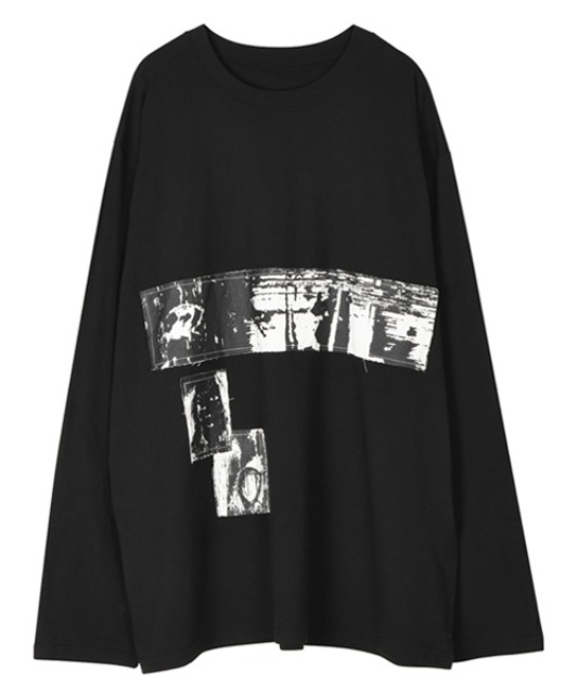 [이노반트] Patchwork sleeve - Black