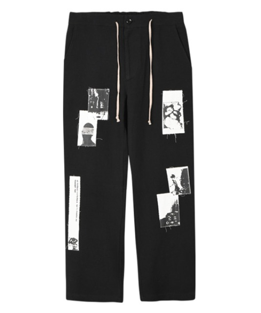 [이노반트] Patch Work Pants - Black