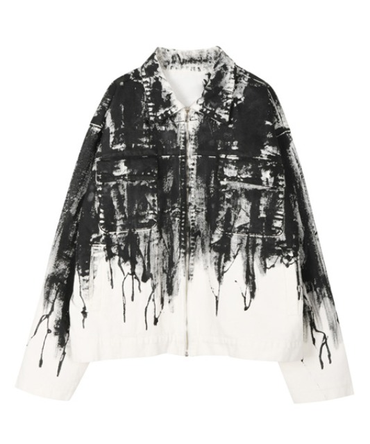 [이노반트] Flowing Paint Jacket - White