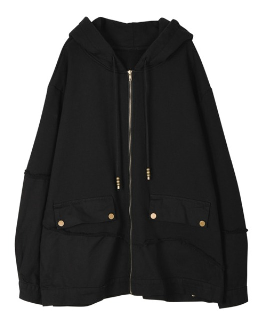 [이노반트] Docking hoody zip-up - Black