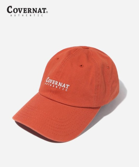 [커버낫] AUTHENTIC LOGO CURVE CAP RUST ORANGE -오프라인-