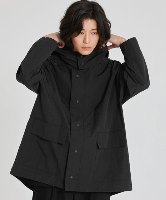 [밈더워드로브] BRIZ Soft Hooded Shell Parka_Black