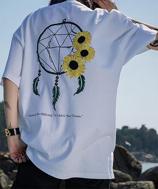 [에이클라운] DREAM CATCHER SUN HALF-TEE_WHITE