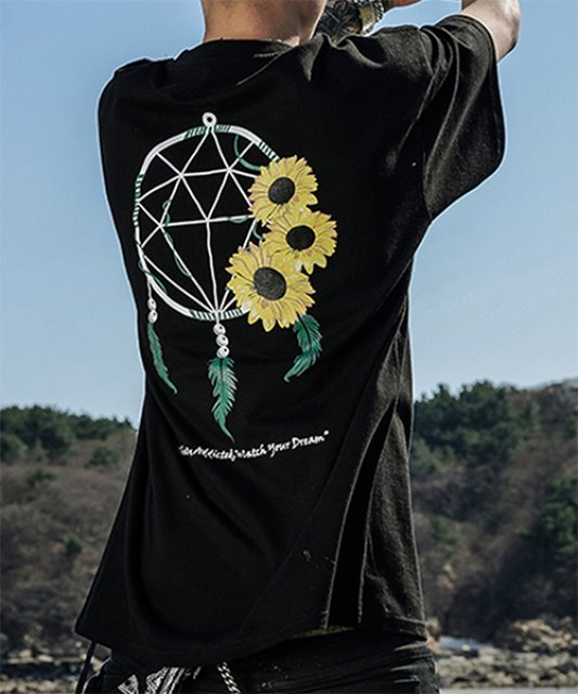[에이클라운] DREAM CATCHER SUN HALF-TEE_BLACK