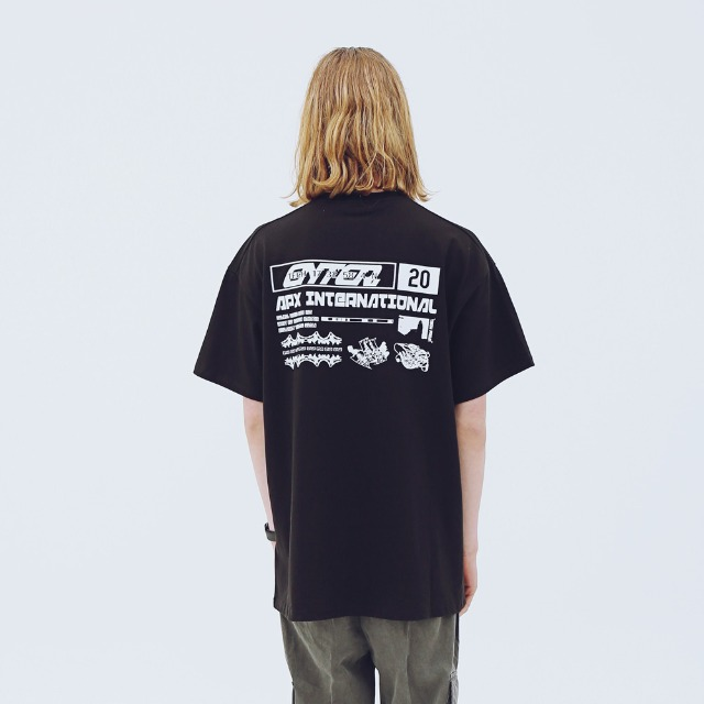 [어패럴싯] UNISEX INTERNATIONAL T-SHIRTS BLACK