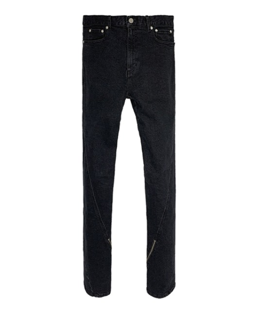 [넥스트도어립스] TWISTED ZIPPER JEAN BLACK