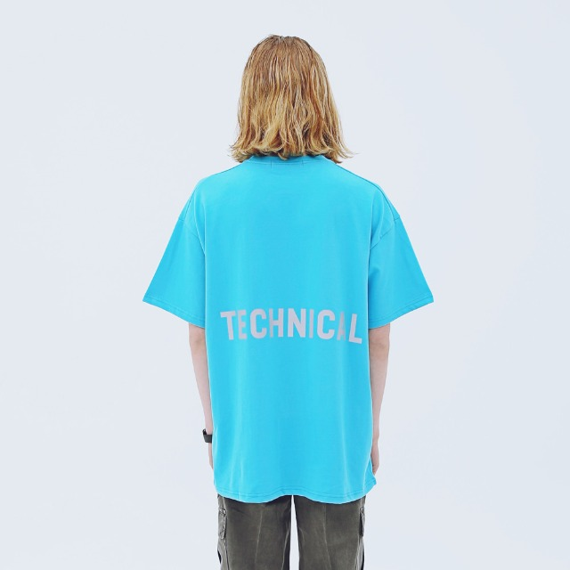[어패럴싯] UNISEX TECHNICAL T-SHRITS BLUE