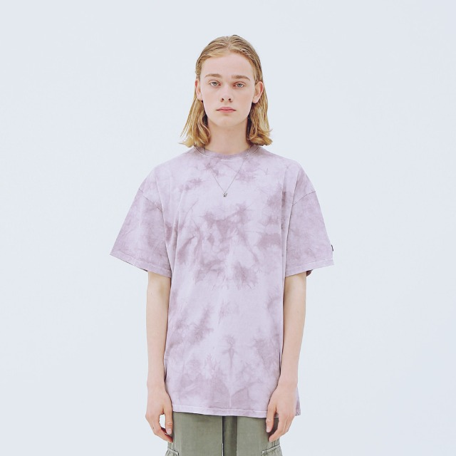 [어패럴싯] UNISEX SIGNAUTRE WASHING T-SHIRTS PURPLE