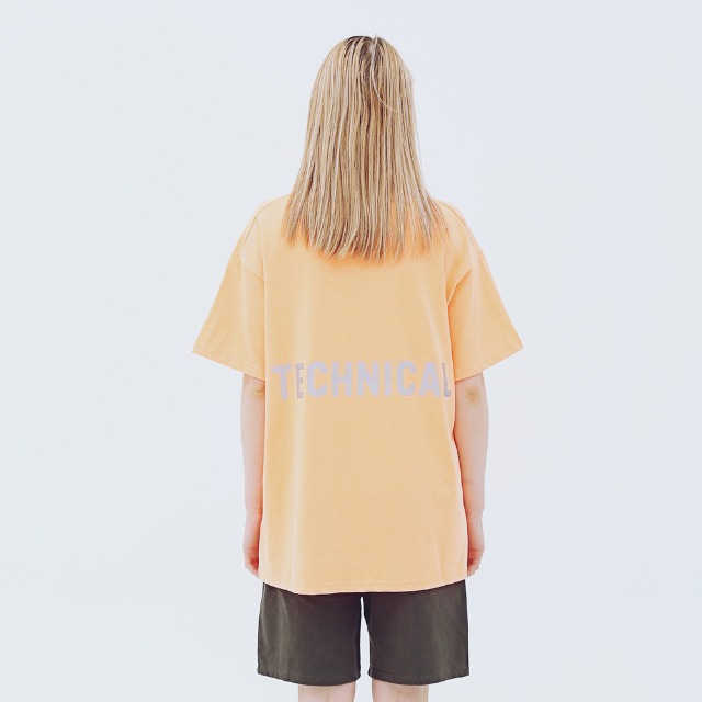 [어패럴싯] UNISEX TECHNICAL T-SHRITS ORANGE
