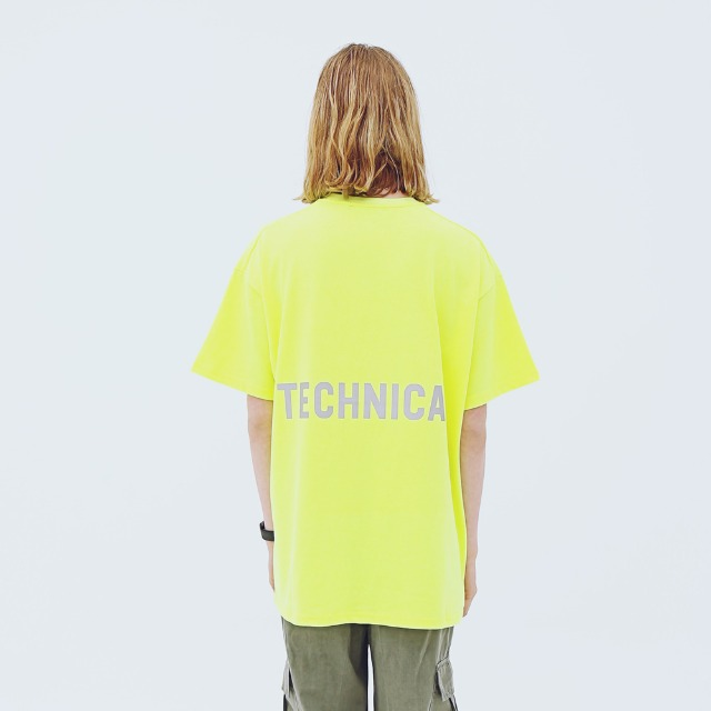 [어패럴싯] UNISEX TECHNICAL T-SHRITS YELLOW