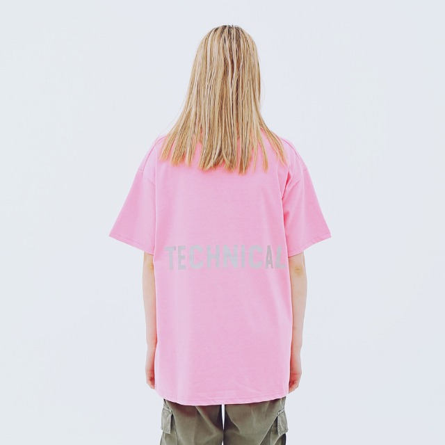 [어패럴싯] UNISEX TECHNICAL T-SHRITS PINK