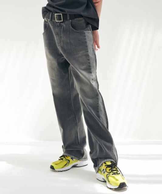[에드] UGLY LONG WIDE DENIM GREY
