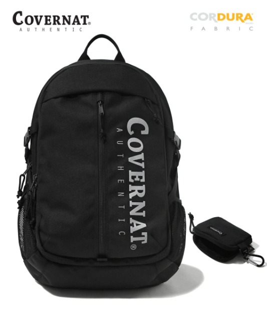[커버낫] CORDURA AUTHENTIC LOGO TRAVELING RUCKSACK BLACK