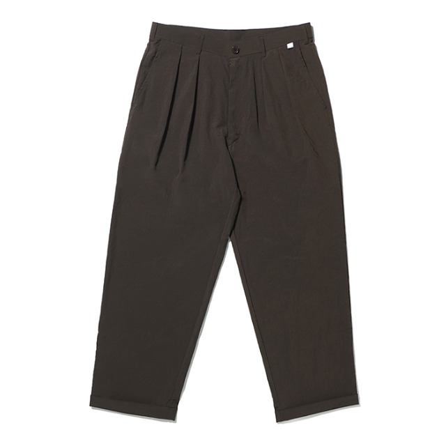 [노매뉴얼] NYLON SET-UP PANTS - BROWN
