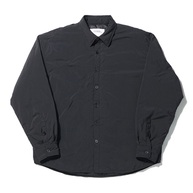 [노매뉴얼] PADDED SHIRT JACKET - BLACK