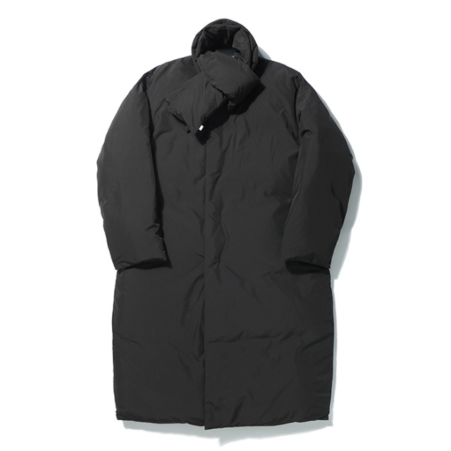 [노매뉴얼] GOOSE LONG DOWN COAT - BLACK