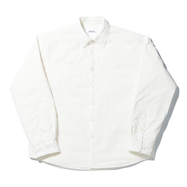 [노매뉴얼] PADDED SHIRT JACKET - WHITE