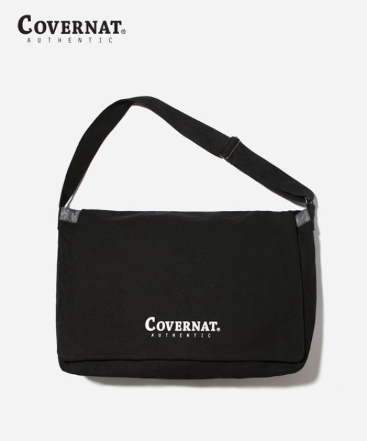 [커버낫] AUTHENTIC LOGO MAIL BAG BLACK
