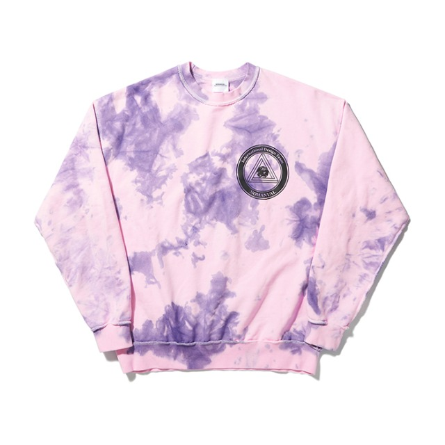 [노매뉴얼] STAIN-DYED SWEATSHIRT - LIGHT PINK
