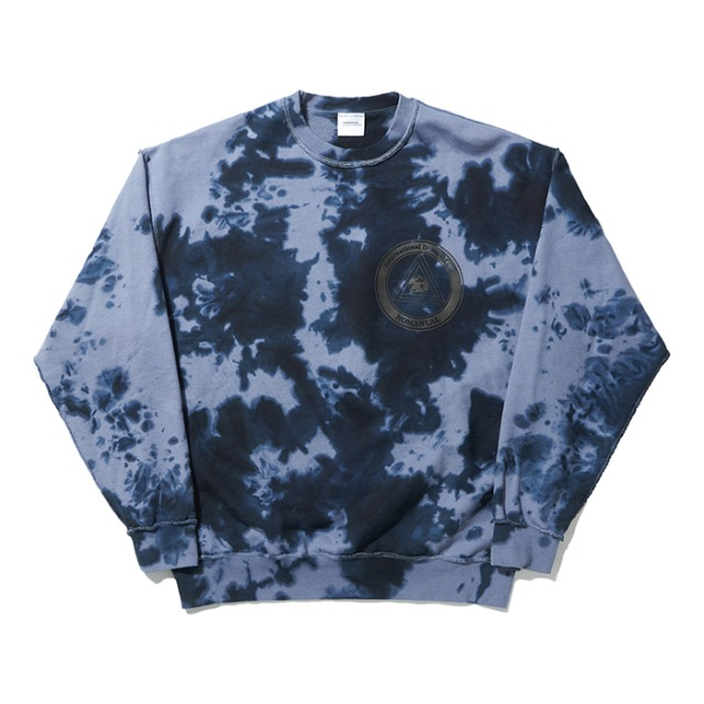 [노매뉴얼] STAIN-DYED SWEATSHIRT - WASHED INDIGO