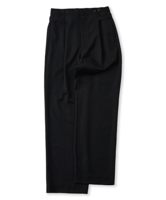 [퍼렌] button wide trousers_black