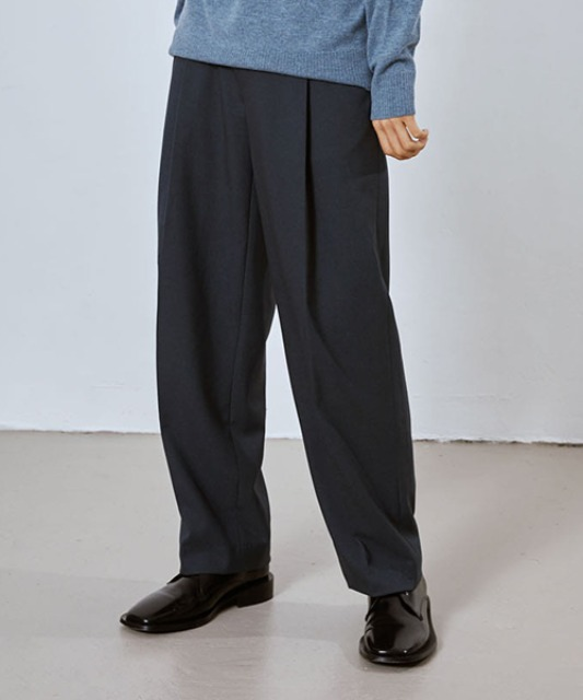 [밈더워드로브] SAGE Wool Blended Muobi Pants_Blue Grey (Set-up)