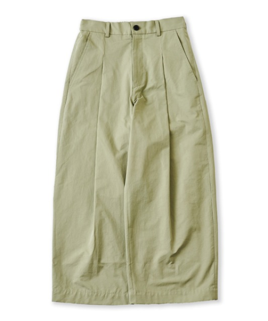 [퍼렌] curved wide trousers_sage green