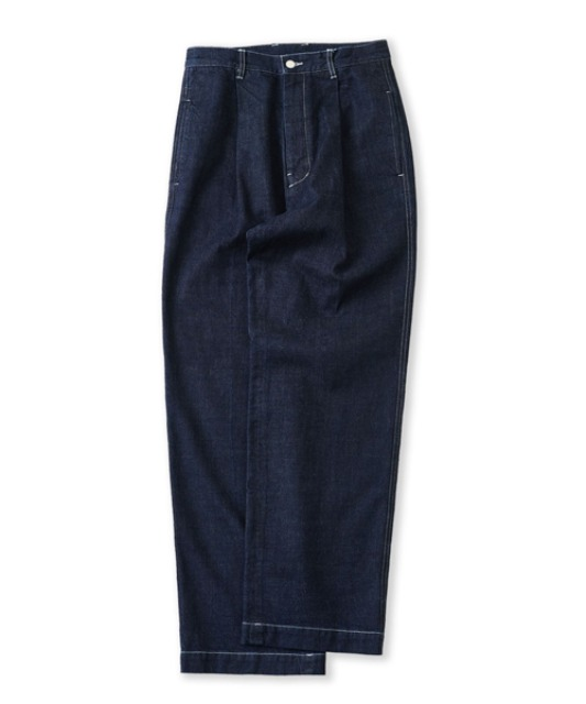 [퍼렌] stitch jeans_indigo blue