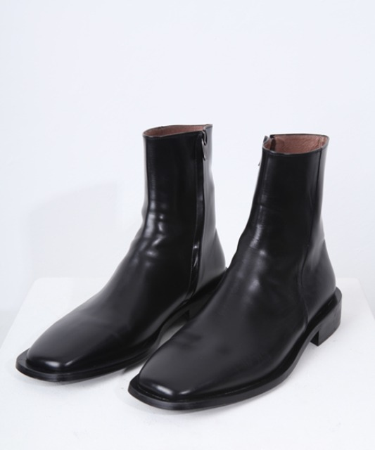 [밈더워드로브] MINIMAL Leather Wide-Sole Chelsea Boots