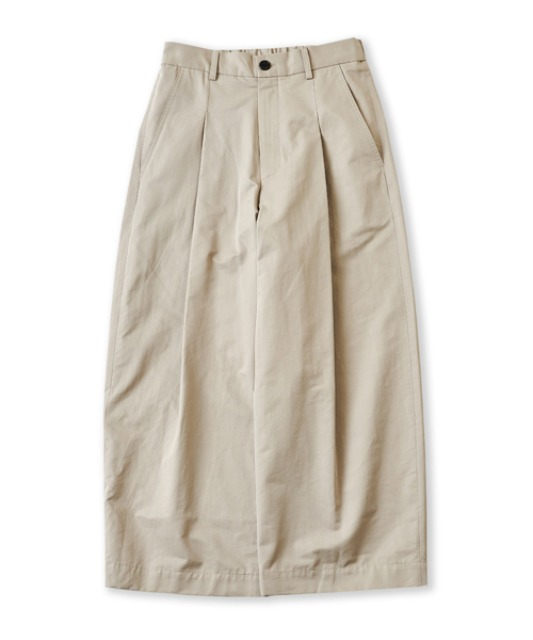 [퍼렌] curved wide trousers_dove gray