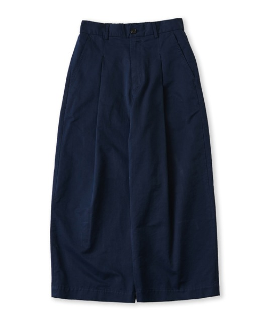 [퍼렌] curved wide trousers_navy