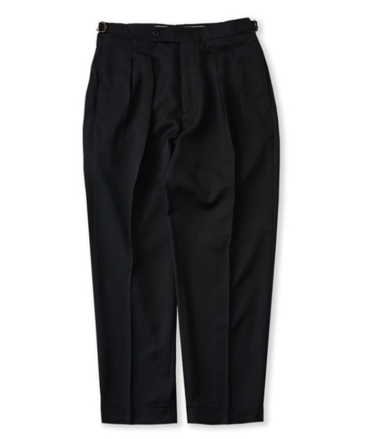 [퍼렌] 2pleats cropped trousers_black