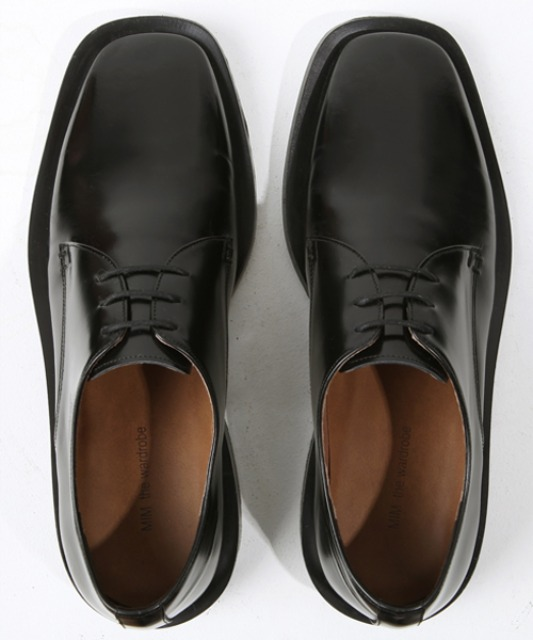 [밈더워드로브] MINIMAL Leather Wide-Sole Derby Shoes