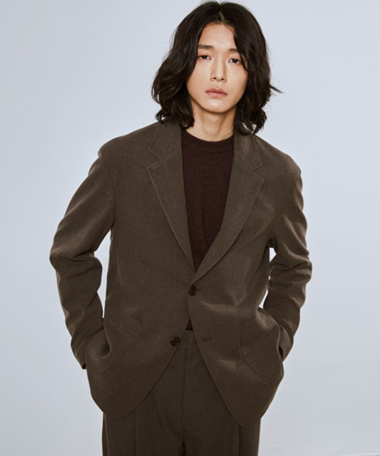 [밈더워드로브] SAGE Wool Blended Single Jacket_Brown (Set-up)