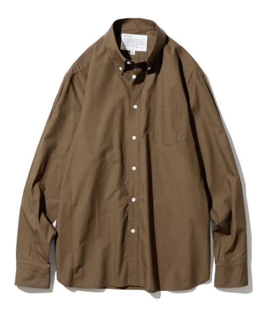 [유니폼브릿지] all weather relax cotton shirts brown