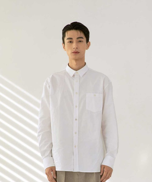 [노운] standard oxford shirt (white)