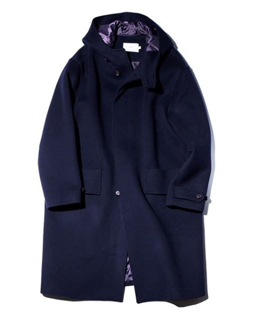[아워셀브스] SOFT WOOL HOODED COAT (Deep navy)