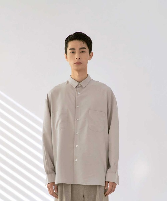 [재입고][노운] easy tencel shirt (light beige)