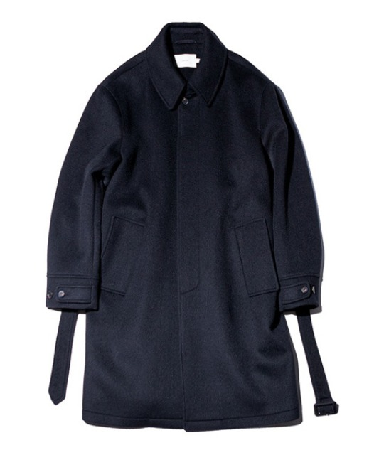 [아워셀브스] SOFT WOOL BELTED MAC COAT (Real black)