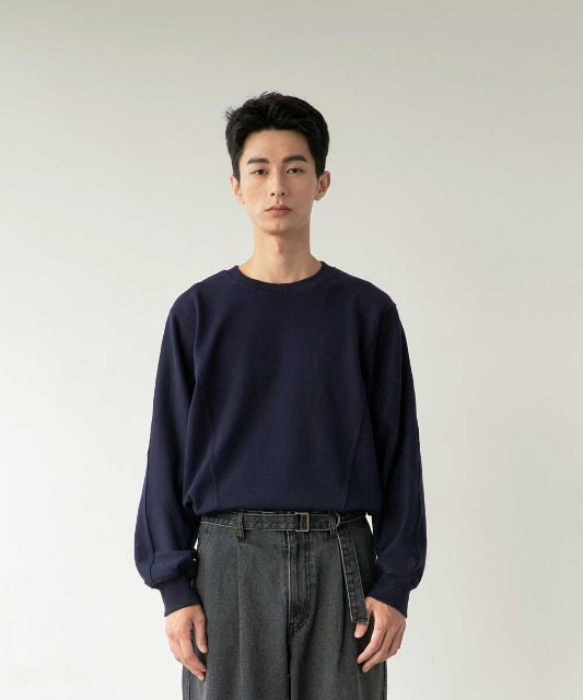 [노운] batwing sweat shirt (navy)