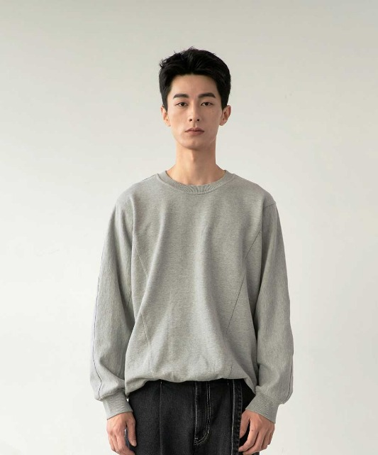 [노운] batwing sweat shirt (melange)