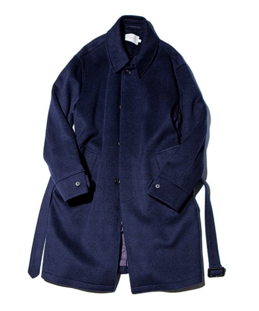 [아워셀브스] SOFT WOOL BELTED MAC COAT (Midnight navy)